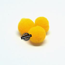 pompom geel * 10 mm - per 10 stuks