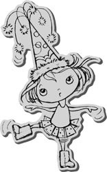Party Hat Kiddo cling rubber stamp - Stampendous * CRP163