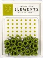 3/16 eyelets leaf ong 50 stuks - American Crafts * AC83340