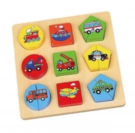 Vormenpuzzel voertuigen - Vigatoys * V9586