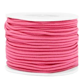 Koord elastiek 2 mm. azalea roze, per meter - elastisch koord