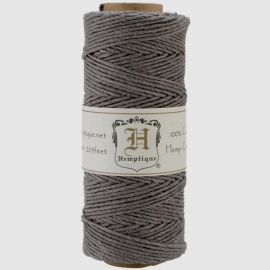 Hemp cord (hennep) grey 1,5 mm. dik - Hemptique * 33330