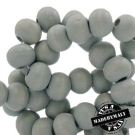 Houten kraal 12 mm Mineral grijs