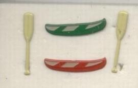 Brads kano`s met peddels (2 sets)