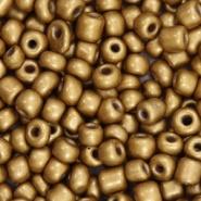 Glaskraal Rocailles 6/0 (4mm) donker goud