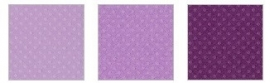 Klein setje dotted swiss cardstock plum pudding trio - Bazzill