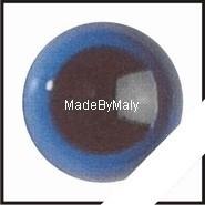1 paar poppen ogen - veiligheids ogen 10 mm. blauw