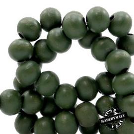 Houten kraal 12 mm. Groen