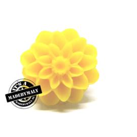 Dahlia bloem kraal 13mm geel