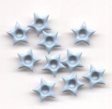 10 ster eyelets lichtblauw