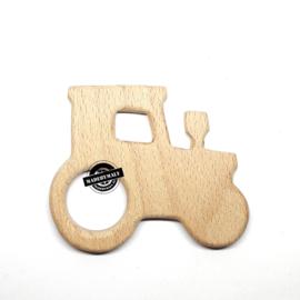 Houten bijtring hout  tractor  beukenhout * 8,4x7 cm.