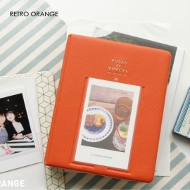 Retro Orange Iconic instax mini polaroid album