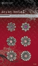 Scrapmetal embellishments roze - Autumn Leaves * 9302