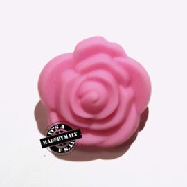 Siliconen bloem kraal 20mm, roze