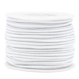 Koord elastiek 2 mm. wit, per meter - elastisch koord