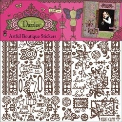 Dazzles artful boutique brown - Hot off the press * DAZ12-2131