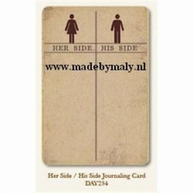 Her side/his side journaling card - My Minds Eye * DAY234
