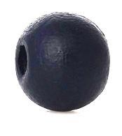Houten kraal 8 mm rond dark blauw