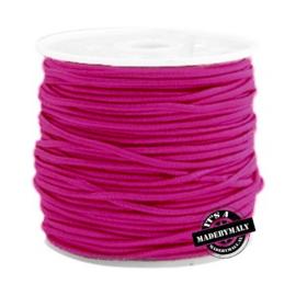 Koord elastiek 1,5 mm, donkerroze per meter - elastisch koord