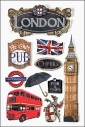 London 3d stickers - Paperhouse