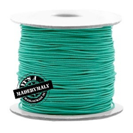 Koord elastiek 0,8 mm. groenblauw, per meter - elastisch koord