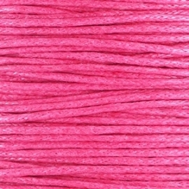 Waxkoord hot pink 1 mm. dik, per meter