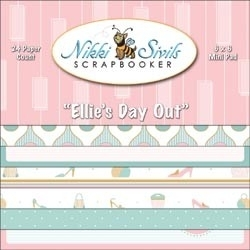 Paperpad 15x15 cm. Ellie`s day out - Nikki Sivils