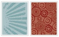 Rays/Retro Circles embossing folder - Tim Holtz * 656650