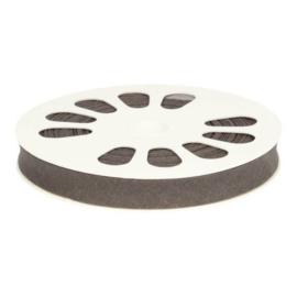 1 meter Dox biasband katoen grijs 12mm breed - 001