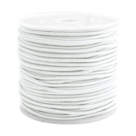 Koord elastiek 1,5 mm. wit, per meter - elastisch koord