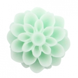 Dahlia bloem kraal 14mm matt Light mint green