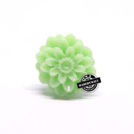 Dahlia bloem kraal 13mm zachtgroen