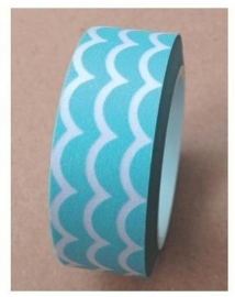 Washi tape aqua scallop - LMT * 083706