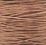 Waxkoord karamel  1 mm. dik, per meter