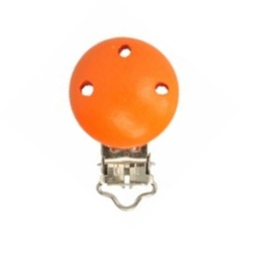 Speenclip hout, oranje 30 mm * Opry