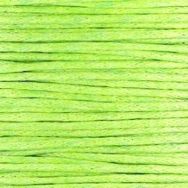 Waxkoord fern green 1 mm. dik, per meter