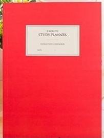 1 maand Studie planner rood