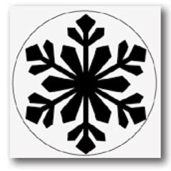 Large Punch Himalayan snowflake - Martha Stewart * M232301