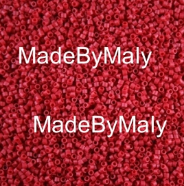 Miyuki Delica's 11/0 opaque Maroon Matted Dyed DB0796
