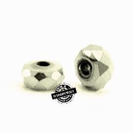 Facet disc kraal hermatite zilver 4x2mm