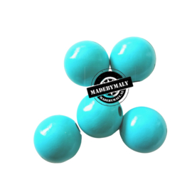 Houten kraal 15 mm rond turquoise