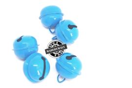 Gesloten belletje 22 mm. lichter blauw - per stuk