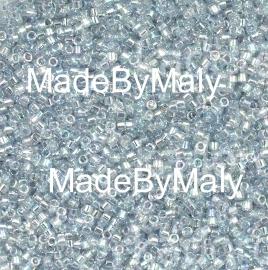 Miyuki Delica's 11/0 Transparent Light Marine Blue Gold Luster DB0110
