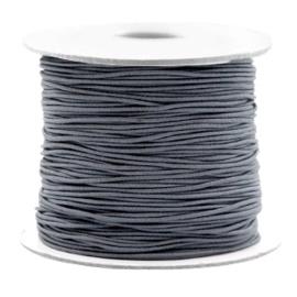 Koord elastiek 0,8 mm. donkergrijs, per meter - elastisch koord