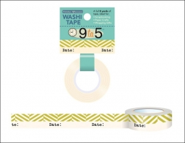 Washi tape 9 to 5  Date- October Afternoon *EM-872