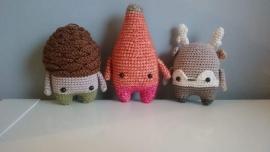 Woody, Heinz en Henry, gehaakt door Cynthia
