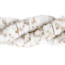 Katsuki kralenchestnut wit zandbruin 4mm