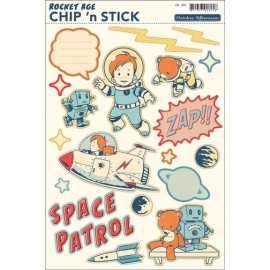 Rocket Age chipboard stickers - October Afternoon * CB-825