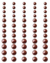 Self adhesive Pearls, Chocolate delight - Queen and Co * PRSR - 635