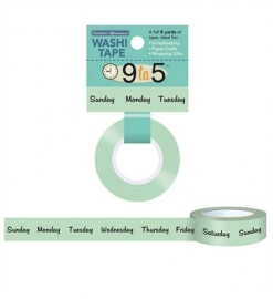 Washi tape 9 to 5 days- October Afternoon *EM-873